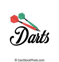 symbols., jelvény, sportszerű, label., darts, logo.