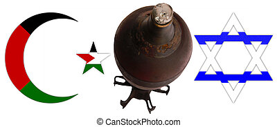 Judaism and Islam - Symbols of Judaism and Islam with a...
