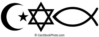 Judaism, Islam and Christianity - Symbols of Judaism, Islam...