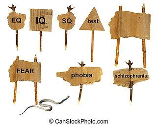 symbols of mental disorders