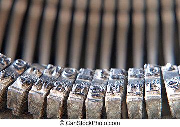 Symbols of old typewriter.