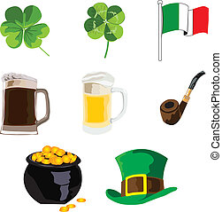 symbols of the holiday of St. Patri