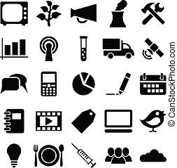 symbols., set, icone