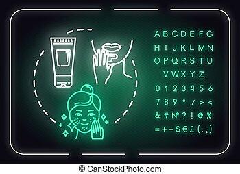 symbols., signe, isolé, icon., couleur, beauté, cosmétique, ...