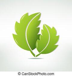 symbool, blad