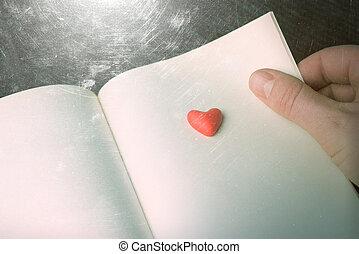 symbool, boek, liefde, pagina