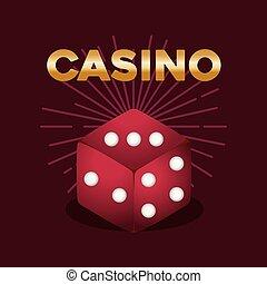 symbool, casino spel, pook dobbelsteen