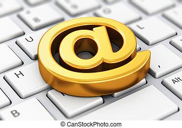 symbool, computer, email, toetsenbord