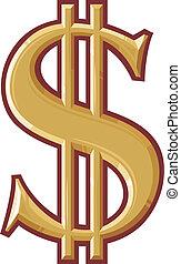 symbool, dollar