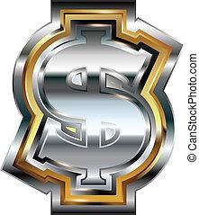 symbool, dollar, zich verbeelden