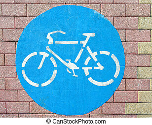 symbool, fiets, grond