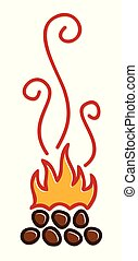 symbool, fire.