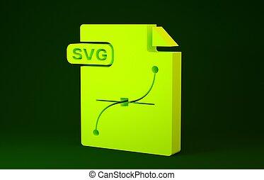 symbool., gele, concept., illustratie, render, 3d, knoop, ...