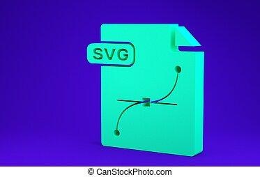 symbool., groene, 3d, pictogram, blauwe , render, minimalism, downloaden, document., concept., vrijstaand, bestand, svg, knoop, illustratie, achtergrond.