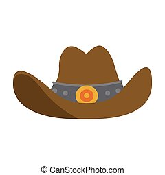 symbool, hoedje, cowboy