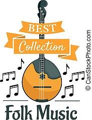 symbool, instrument muziek, ethnische , muzikalisch,...