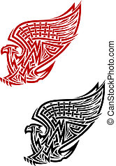 symbool, keltische stijl, griffin