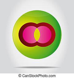 symbool., kleurrijke, creatief