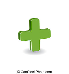 symbool, -, kruis, apotheek, groen wit