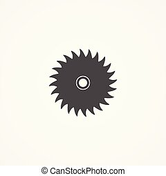 symbool, lemmet, meldingsbord, vector, zaag, pictogram
