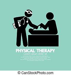 symbool, lichamelijk, black , therapy.