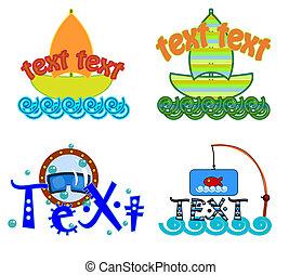 symbool, logo, vector