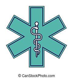 symbool, medisch, caduceus