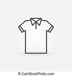 symbool, moderne, t-shirt, tshirt, vector, lijn, icon.