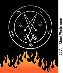 symbool, officieel, lucifer