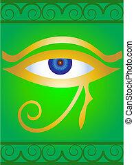 symbool, oog, egyptisch
