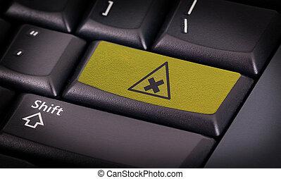 symbool, op, toetsenbord