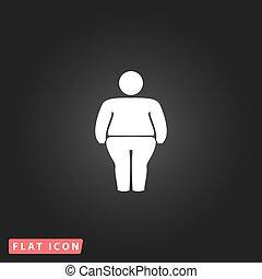 symbool, overgewicht,  man