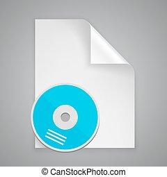 symbool, papier, cd