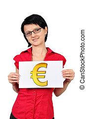 symbool, plakkaat, eurobiljet