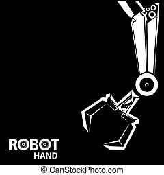 symbool,  robot,  Vector, Robotachtig,  hand,  arm