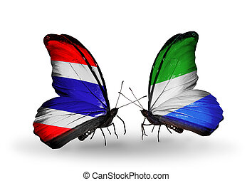 symbool, twee, relaties, vlinder, vlaggen, sierra, thailand...