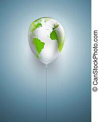 symbool, van, milieu