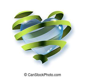 symbool, van, milieubescherming