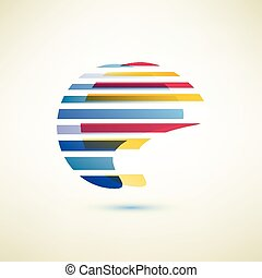 symbool, vector, abstract, globe, vorm