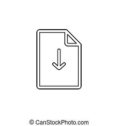 symbool, -, vector, bestand, downloaden, document, pictogram