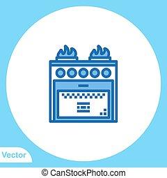 symbool, vector, gas, pictogram, meldingsbord, plat, kachels
