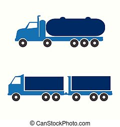 symbool, vrachtwagen