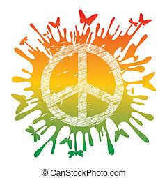 symbool, vrede, hippie