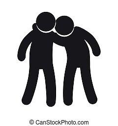 symbool, vriendschap, mensen