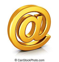 symbool, witte , vrijstaand, achtergrond, email