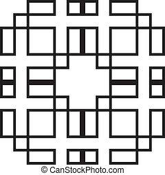 symetrical, forma abstracta, juego, 2, rectángulo, ...