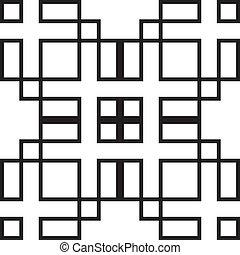 symetrical, forma abstracta, juego, rectángulo, ...