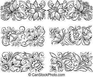 symmetric elegant floral patterns
