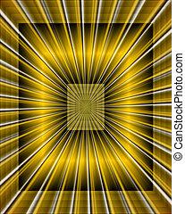 Symmetric Fractals - Sparkling symmetrical fractals. Digital...