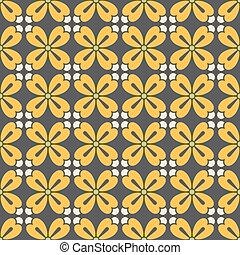 Symmetric geometric floral pattern
